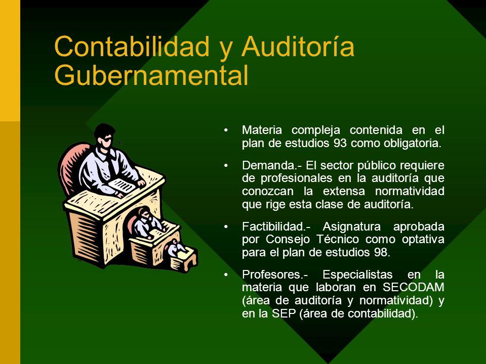 Contabilidad y Auditoría Gubernamental