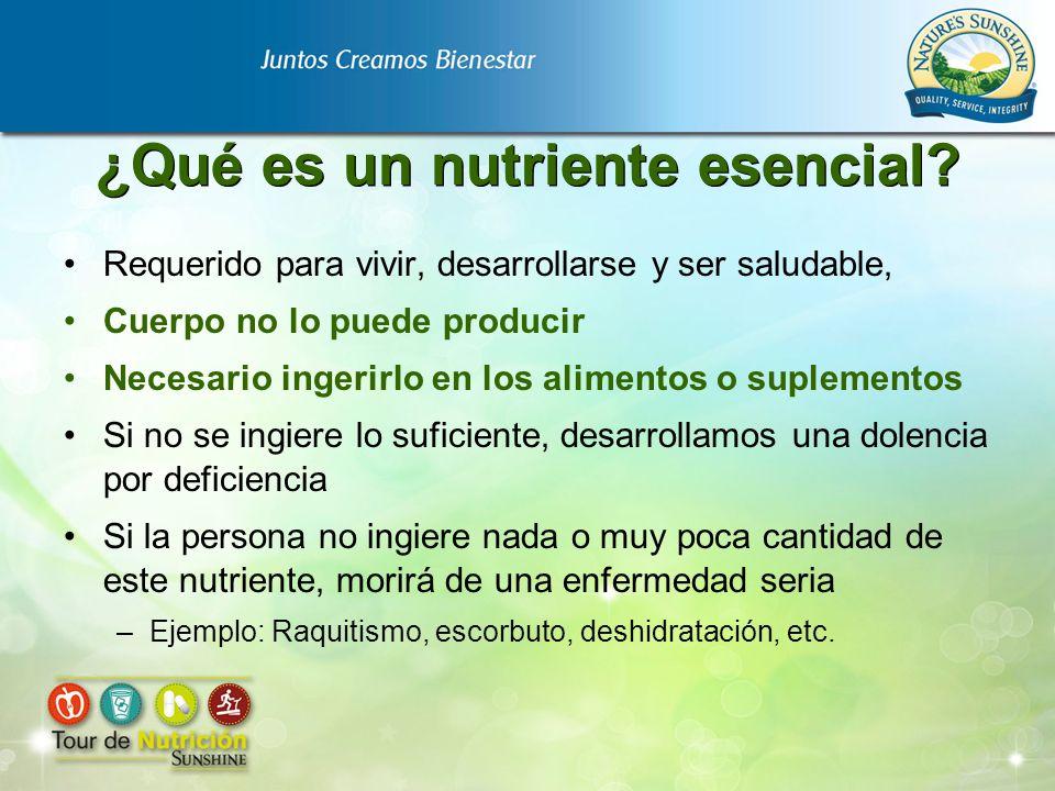 ¿Qué es un nutriente esencial