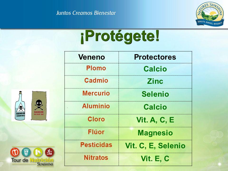 ¡Protégete! Veneno Protectores Calcio Zinc Selenio Vit. A, C, E