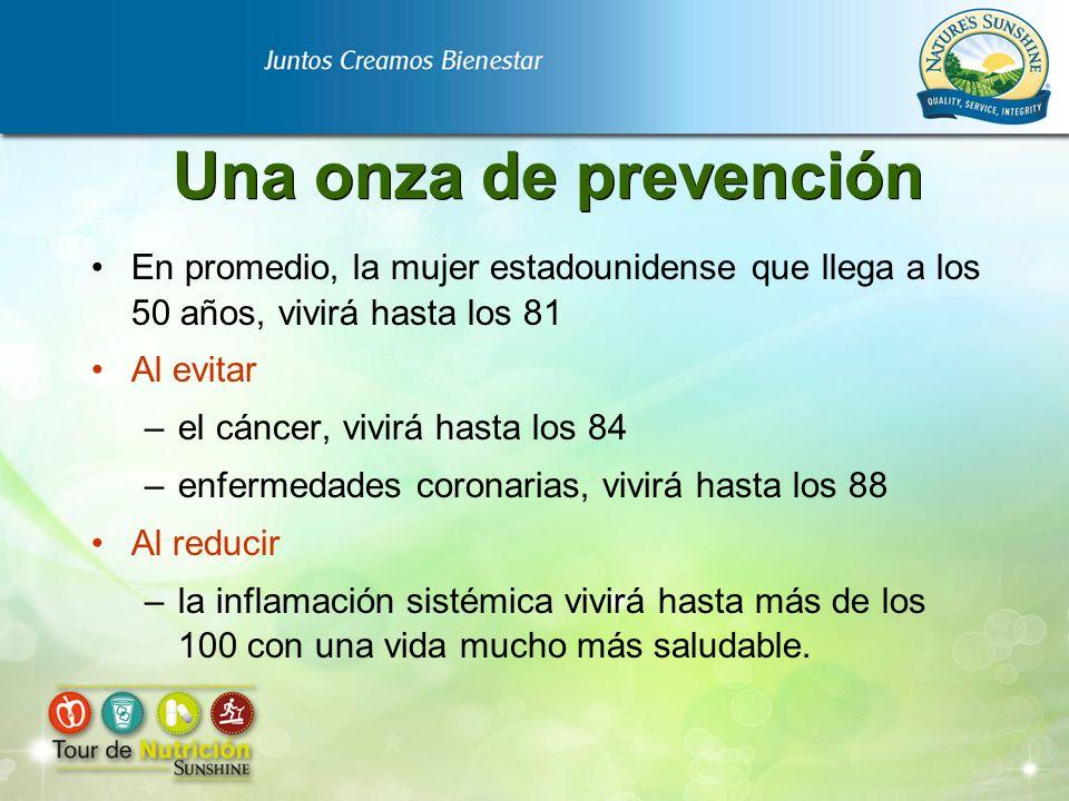 Una onza de prevención En promedio, la mujer estadounidense que llega a los 50 años, vivirá hasta los 81.