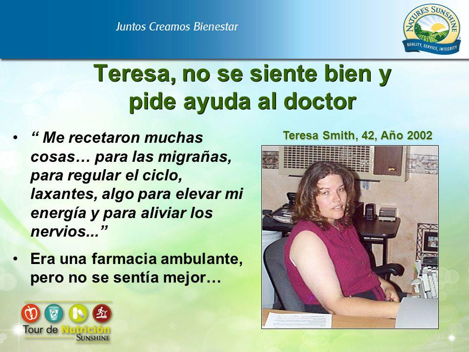 Teresa, no se siente bien y pide ayuda al doctor