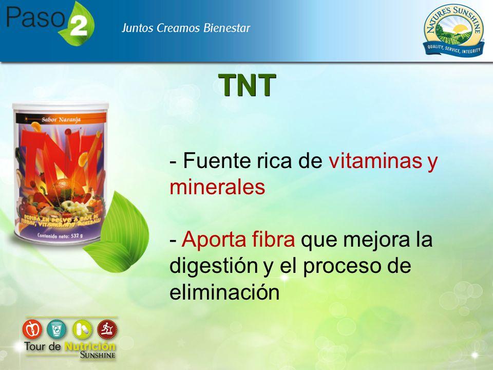 TNT - Fuente rica de vitaminas y minerales