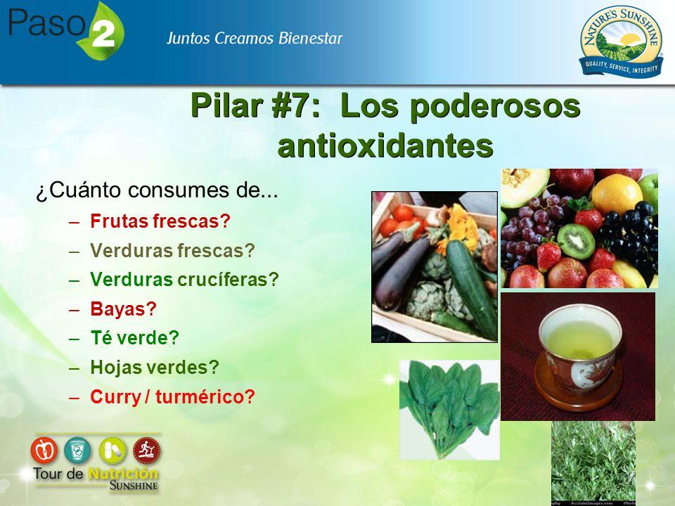 Pilar #7: Los poderosos antioxidantes