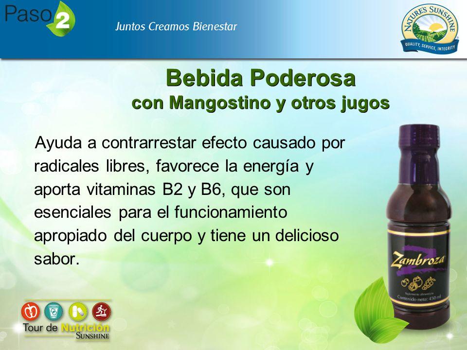 Bebida Poderosa con Mangostino y otros jugos