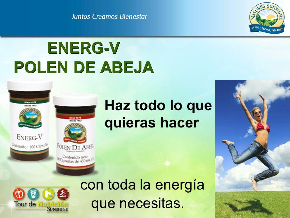 ENERG-V POLEN DE ABEJA Haz todo lo que quieras hacer