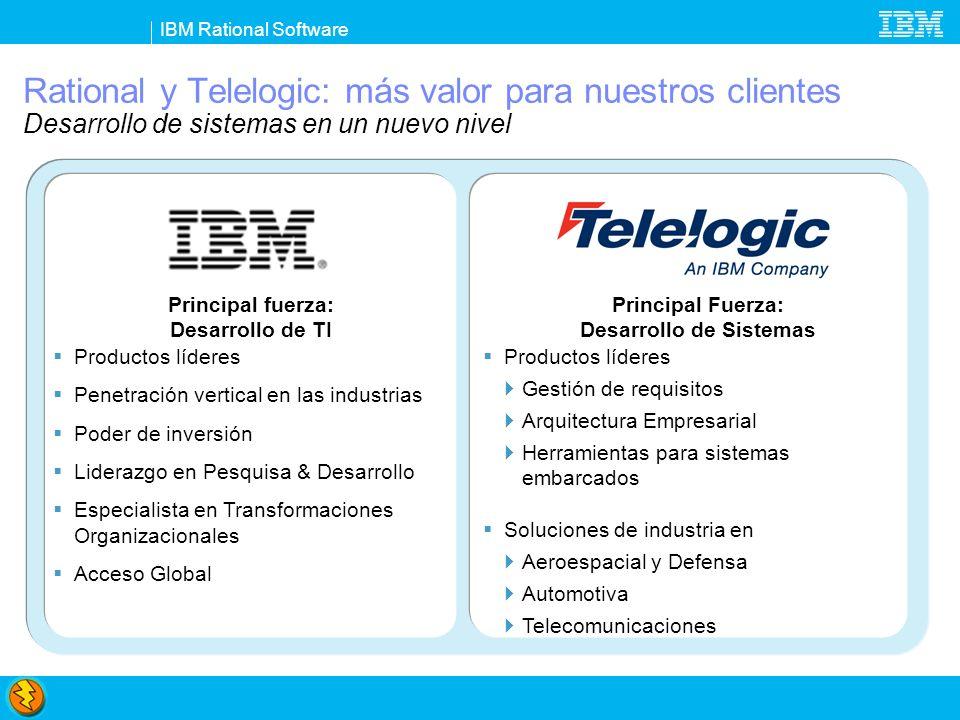 Rational y Telelogic: más valor para nuestros clientes Desarrollo de sistemas en un nuevo nivel