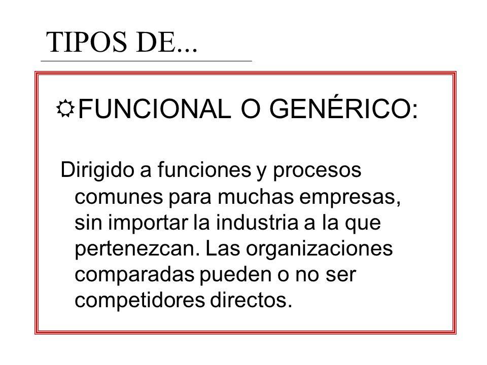 TIPOS DE... FUNCIONAL O GENÉRICO: