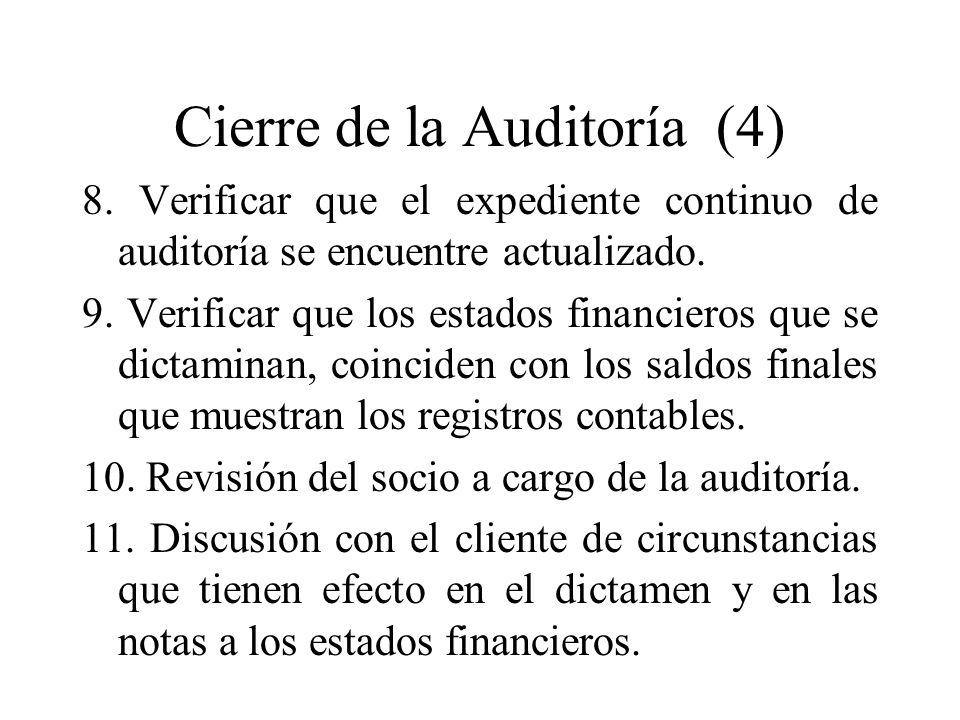 Cierre de la Auditoría (4)