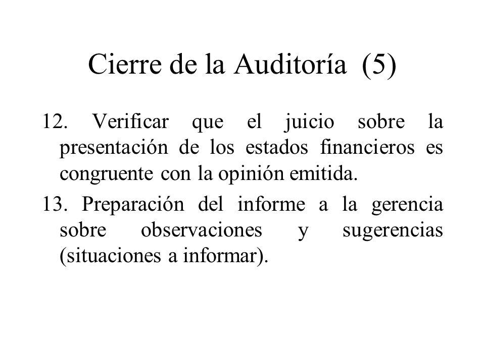 Cierre de la Auditoría (5)