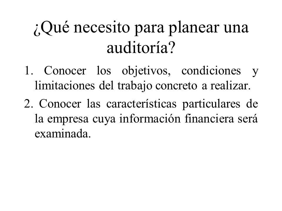 ¿Qué necesito para planear una auditoría