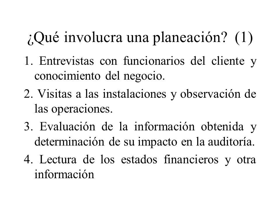 ¿Qué involucra una planeación (1)