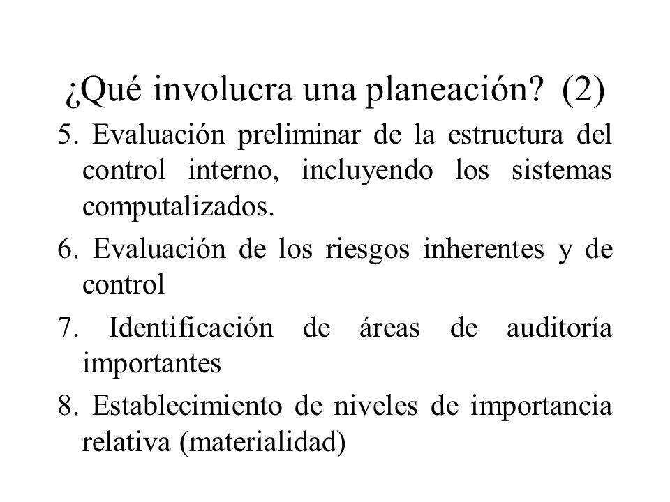 ¿Qué involucra una planeación (2)