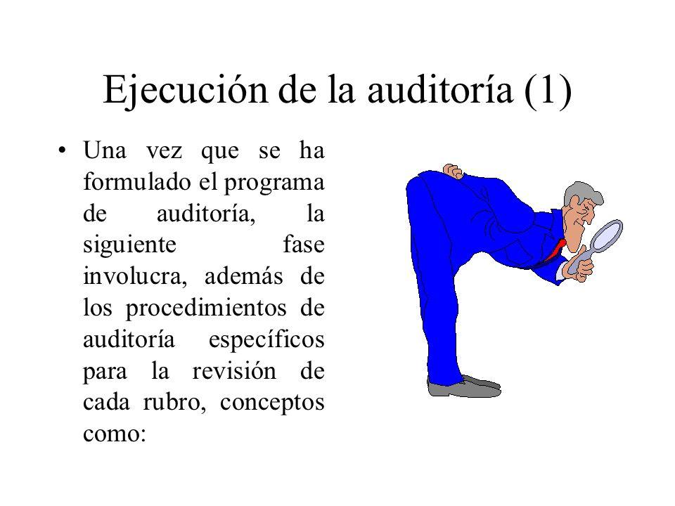 Ejecución de la auditoría (1)
