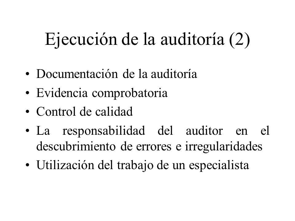 Ejecución de la auditoría (2)