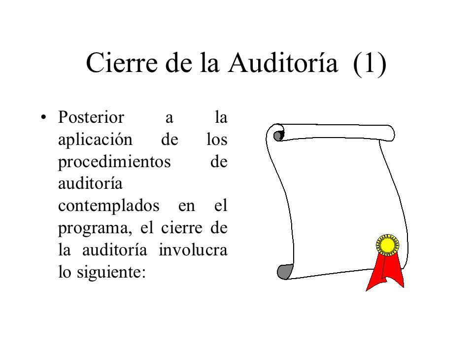 Cierre de la Auditoría (1)