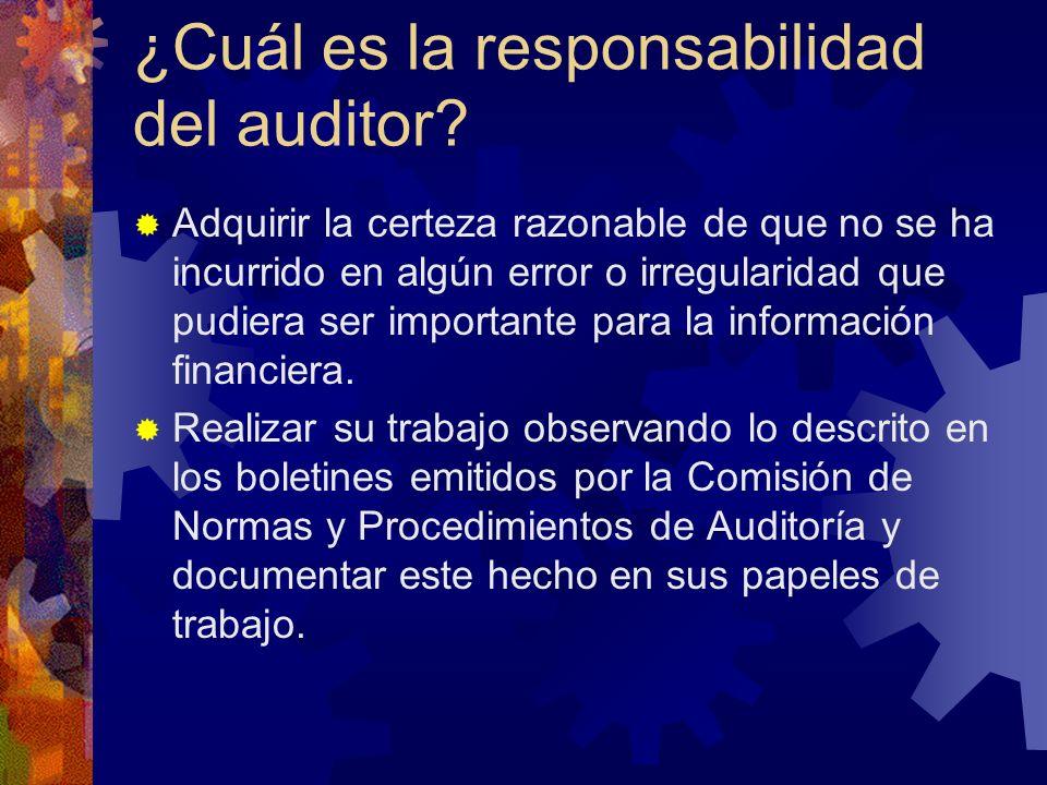 ¿Cuál es la responsabilidad del auditor