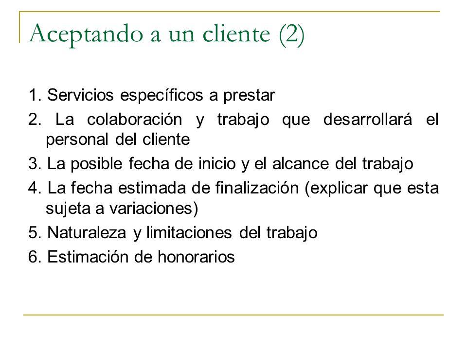 Aceptando a un cliente (2)