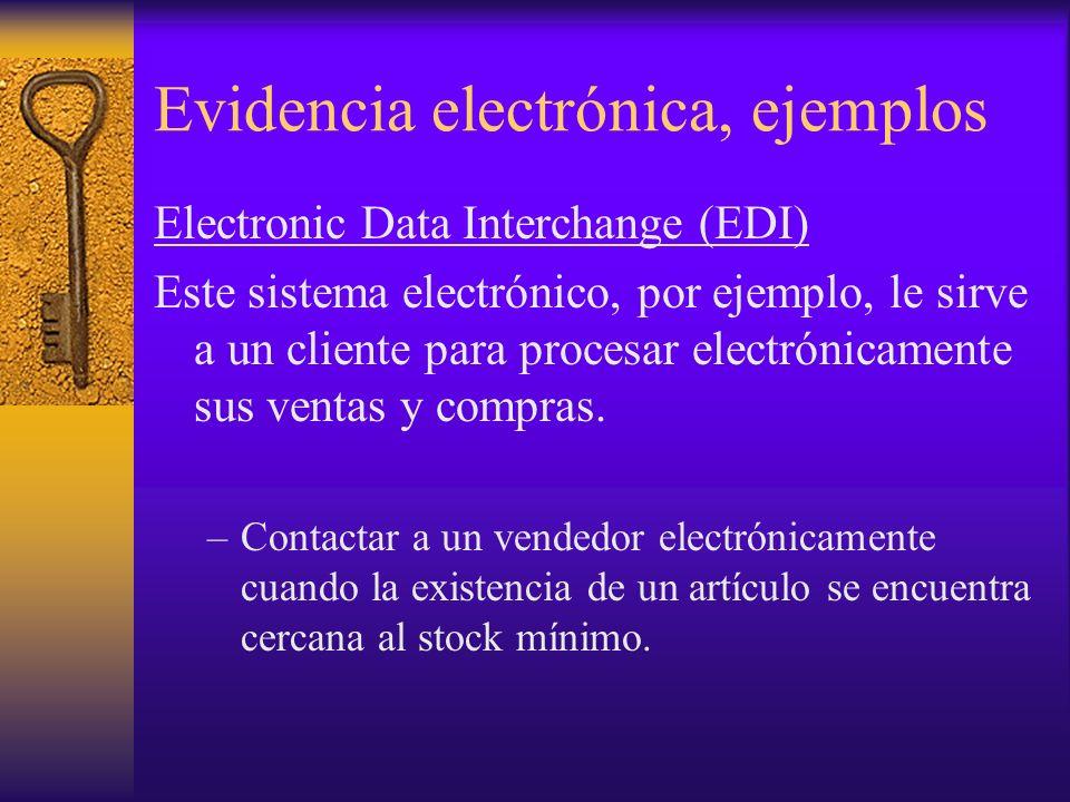Evidencia electrónica, ejemplos