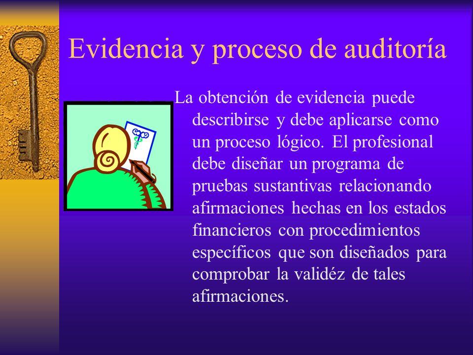 Evidencia y proceso de auditoría