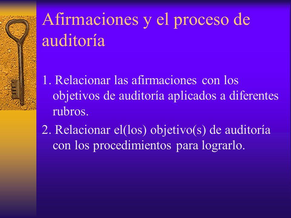 Afirmaciones y el proceso de auditoría