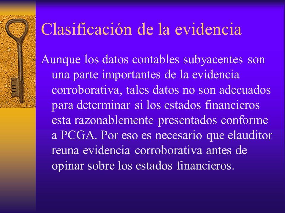 Clasificación de la evidencia