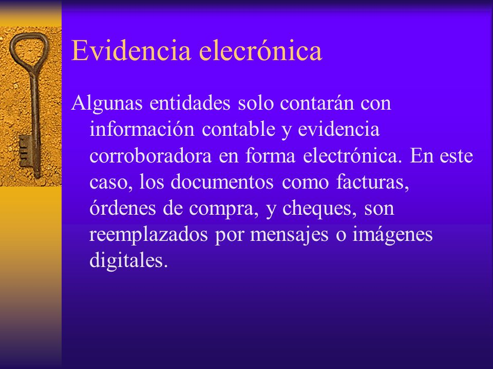 Evidencia elecrónica