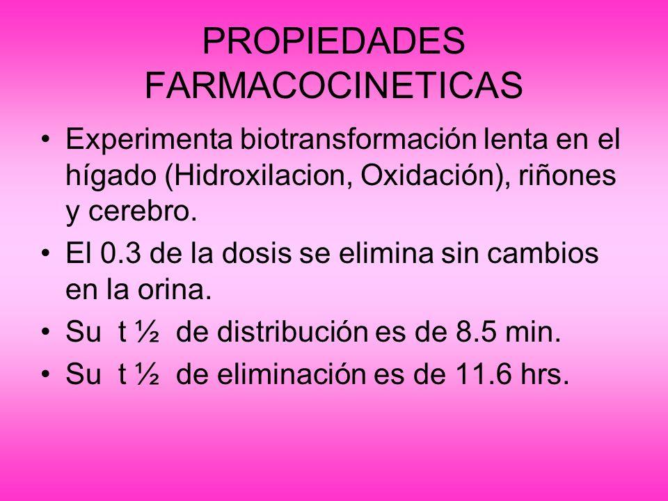 PROPIEDADES FARMACOCINETICAS