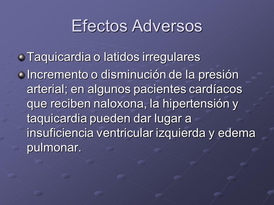 Efectos Adversos Taquicardia o latidos irregulares