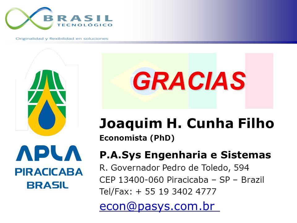 GRACIAS Joaquim H. Cunha Filho econ@pasys.com.br