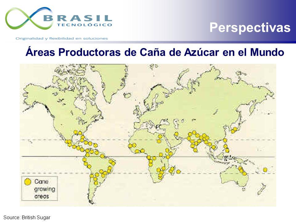 Perspectivas Áreas Productoras de Caña de Azúcar en el Mundo