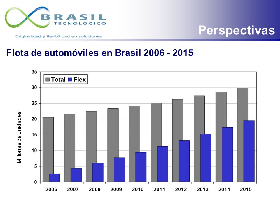 Perspectivas Flota de automóviles en Brasil 2006 - 2015