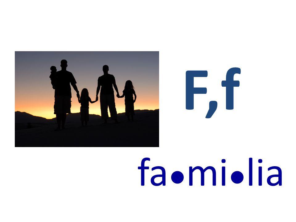 F,f fa●mi●lia