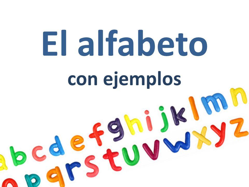 El alfabeto con ejemplos