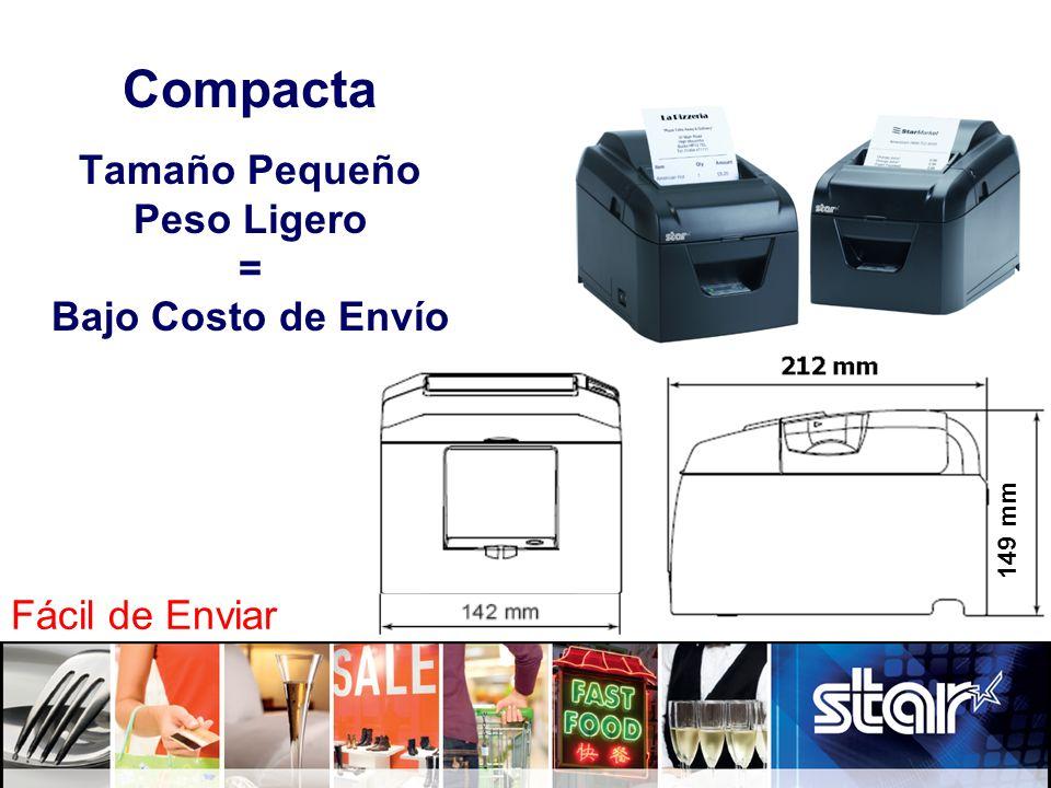 Compacta Tamaño Pequeño Peso Ligero = Bajo Costo de Envío