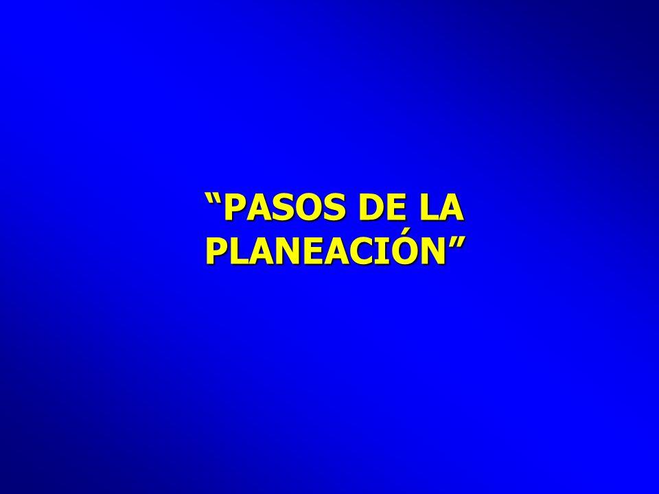 PASOS DE LA PLANEACIÓN