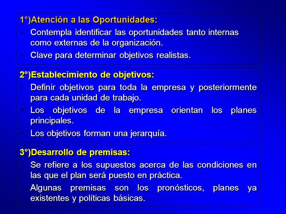 1°)Atención a las Oportunidades: