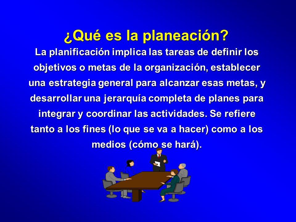 ¿Qué es la planeación