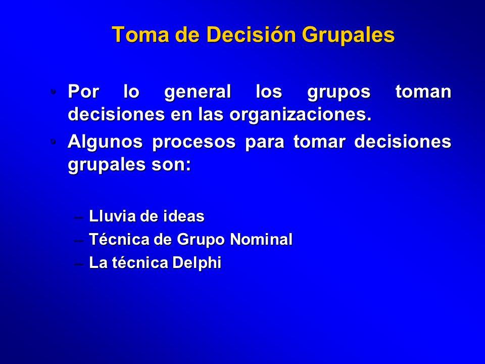 Toma de Decisión Grupales