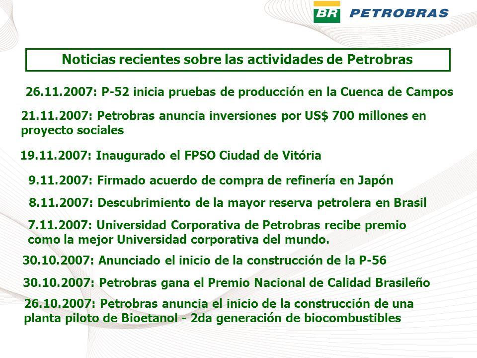 Noticias recientes sobre las actividades de Petrobras