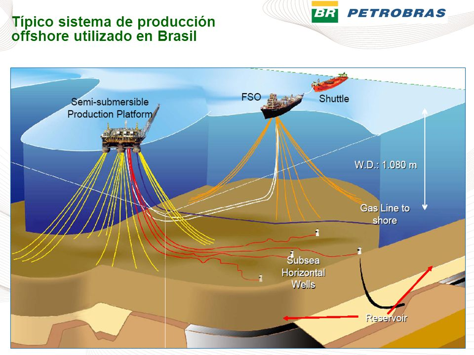 Típico sistema de producción offshore utilizado en Brasil