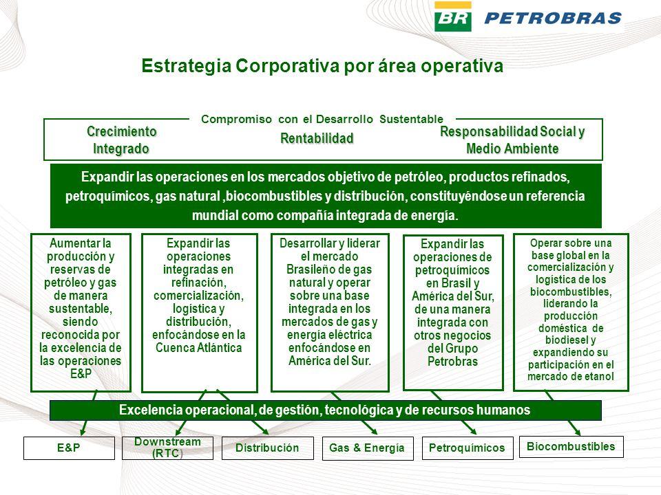 Estrategia Corporativa por área operativa
