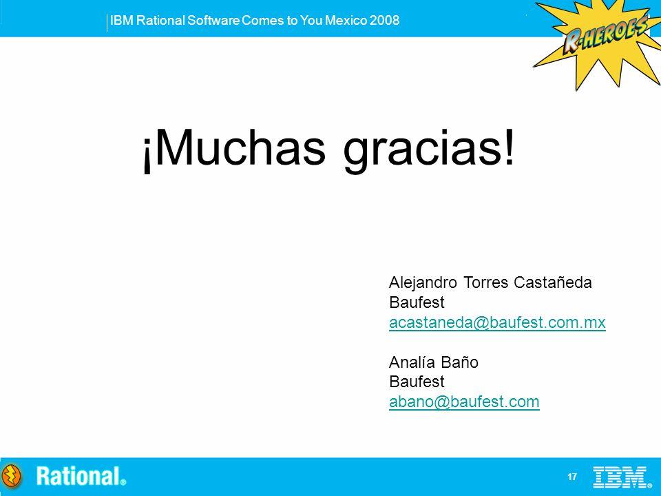 ¡Muchas gracias! Alejandro Torres Castañeda Baufest