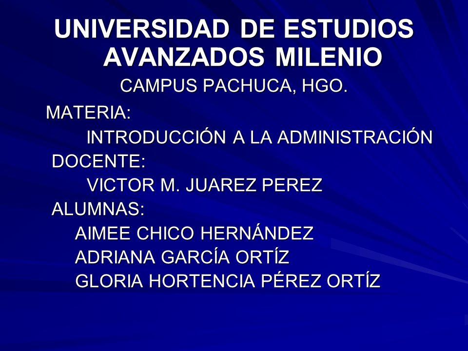 UNIVERSIDAD DE ESTUDIOS AVANZADOS MILENIO