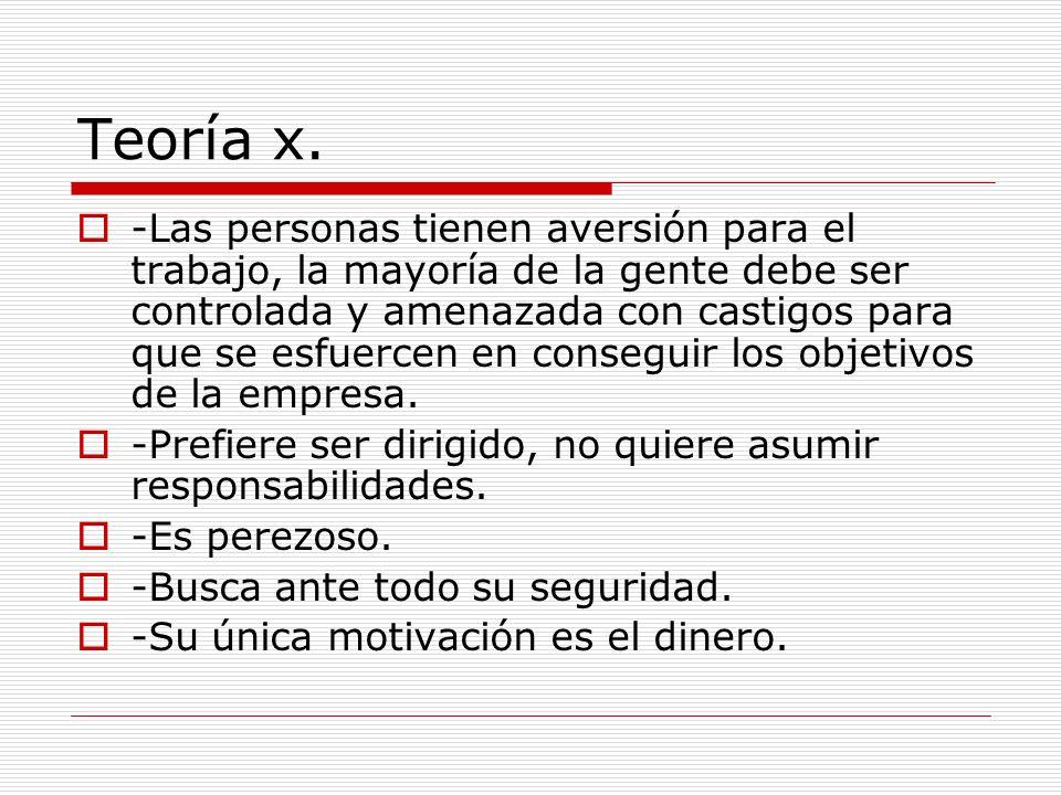 Teoría x.