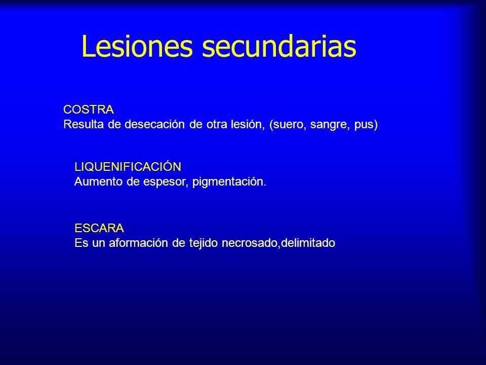 Lesiones secundarias COSTRA