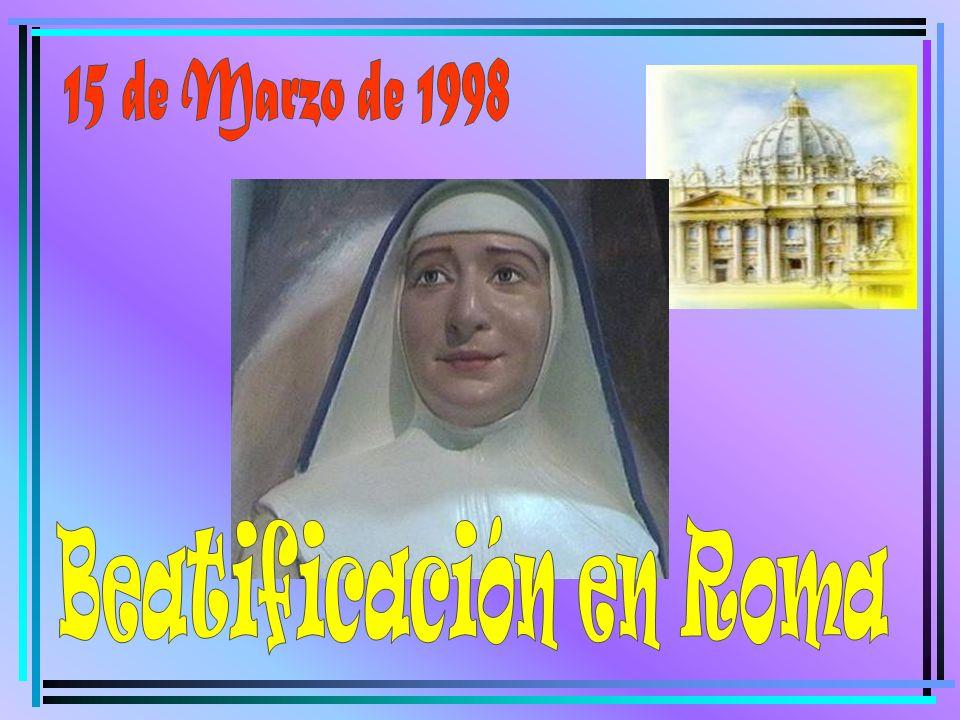 15 de Marzo de 1998 Beatificación en Roma