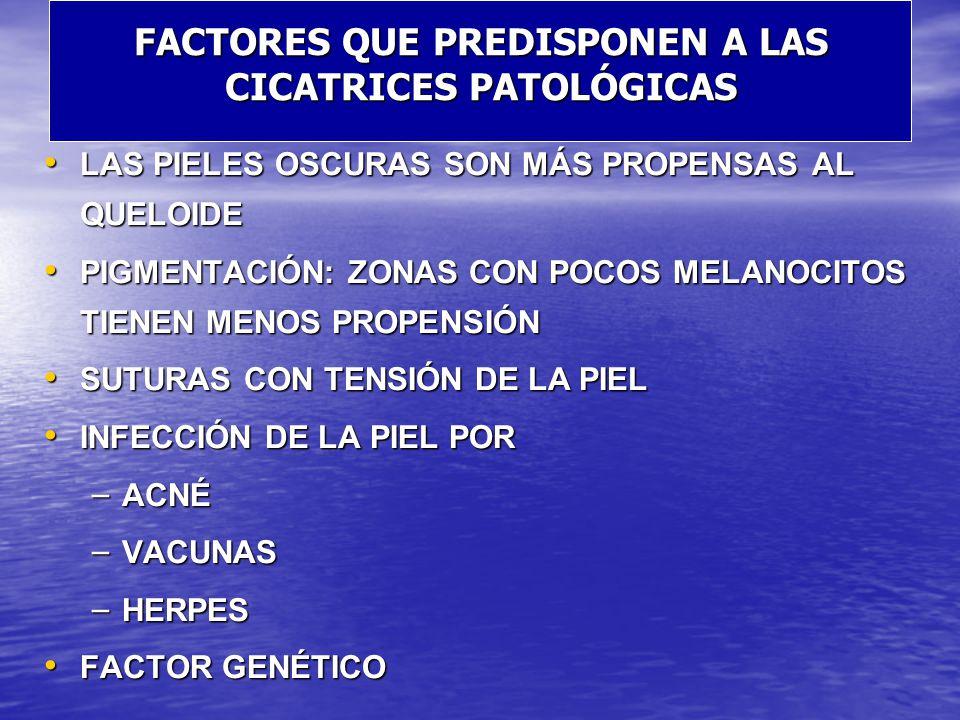 FACTORES QUE PREDISPONEN A LAS CICATRICES PATOLÓGICAS