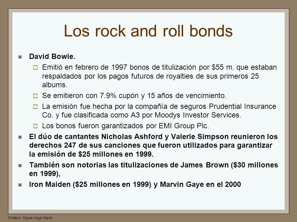 Los rock and roll bonds David Bowie.