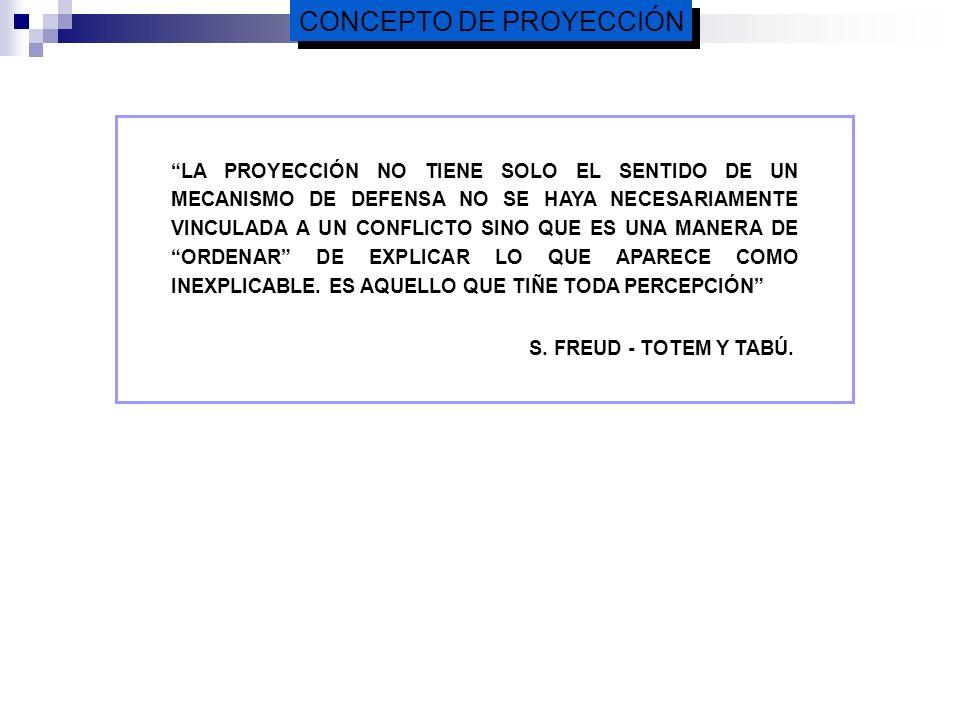 CONCEPTO DE PROYECCIÓN