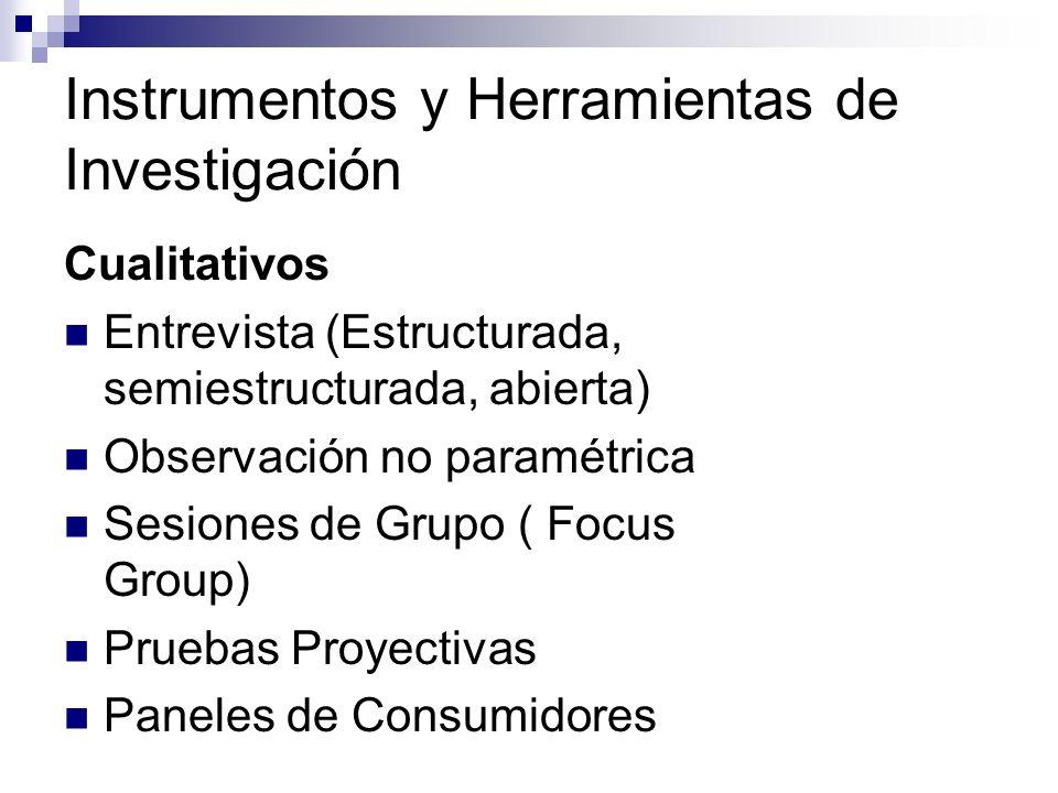 Instrumentos y Herramientas de Investigación